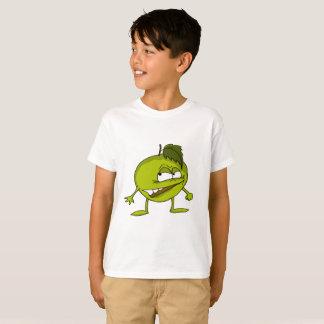 T-shirt Personnage de dessin animé vert de pomme avec un