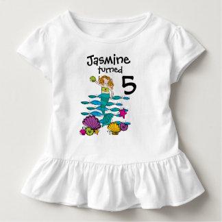 T-shirt personnalisable d'anniversaire de sirène