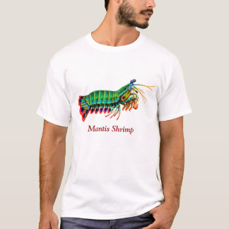 T-shirt personnalisable de crevette de mante de