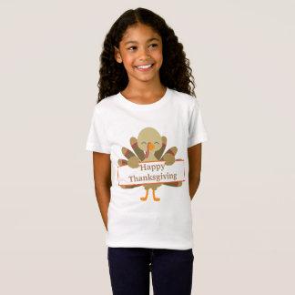 T-shirt personnalisable de dinde de thanksgiving