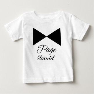 T-shirt personnalisable de garçon de page de