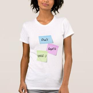 T-shirt personnalisable des textes de sourire