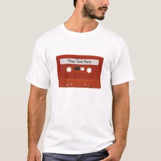T-shirt personnalisable rouge d'enregistreur à