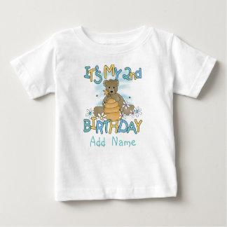 T-shirt personnalisé d'anniversaire d'ours de miel