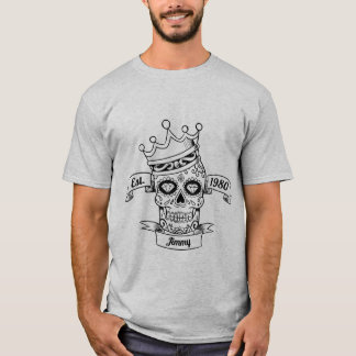 T-shirt personnalisé de crâne