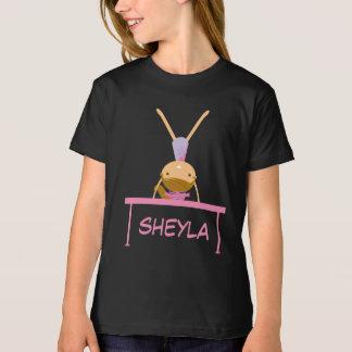 T-shirt personnalisé de gymnastique de filles