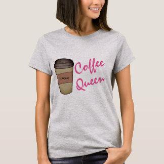 T-shirt personnalisé de la Reine de café