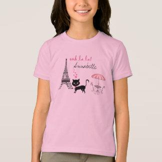 T-shirt personnalisé de Paris de chat