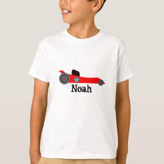 T-shirt personnalisé de voiture de course