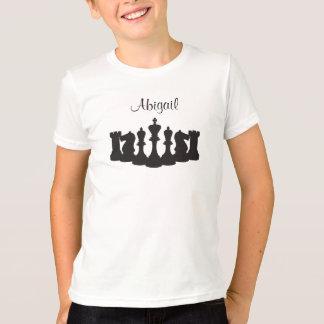 T-shirt personnalisé d'échecs pour des enfants