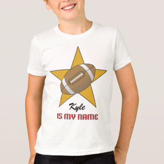 T-shirt personnalisé d'étoile de football