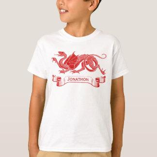T-shirt personnalisé du dragon de l'enfant