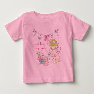 T-shirt personnalisé occupé de bébé de Beary