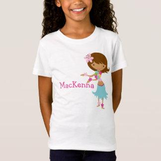 T-shirt personnalisé par fille de Luau Hawaï