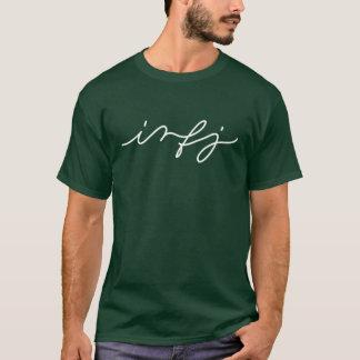 T-shirt Personnalité d'INFJ dans la calligraphie - chemise
