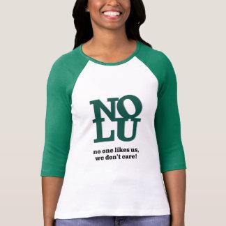 T-shirt Personne nous aime pièce en t de raglan de la
