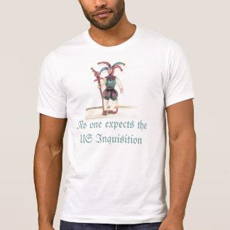 T-shirt Personne s'attend à l'enquête des USA