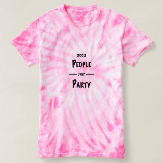 T-shirt Personnes de soutien au-dessus de la politique