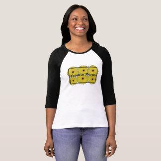 T-shirt Pétales et épines 3/4 chemise raglane