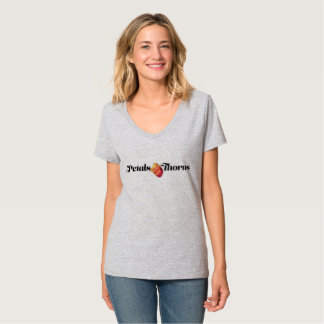 T-shirt Pétales et V-Cou d'épines