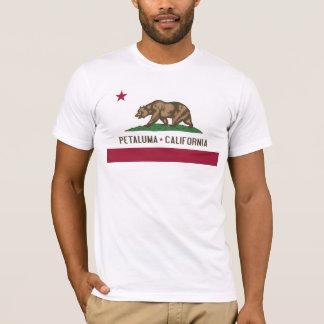 T-shirt Petaluma : Drapeau de pièce en t de la Californie
