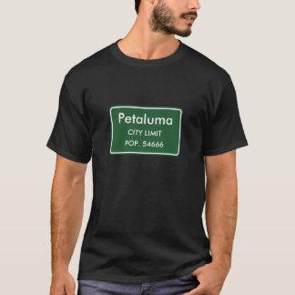 T-shirt Petaluma, signe de limites de ville de CA