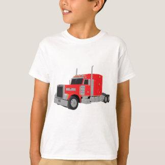 T-shirt peter rouge a construit le tracteur