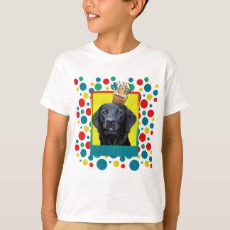 T-shirt Petit gâteau d'anniversaire - Labrador - noir -