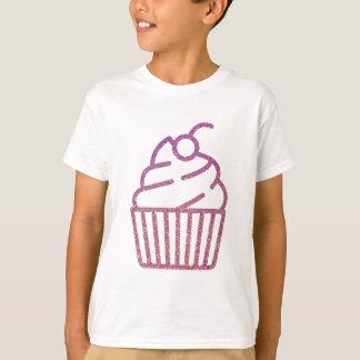 T-shirt Petit gâteau de scintillement