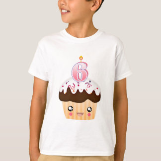 T-shirt Petit gâteau T - rose de 6 ans