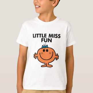 T-shirt Petit lettrage noir de Mlle Fun |
