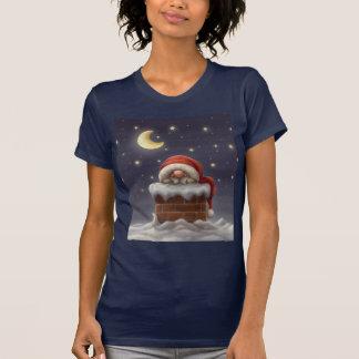 T-shirt Petit Père Noël dans une cheminée