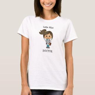 T-shirt Petite Mlle le docteur - brune mignonne