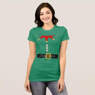 T-shirt Petite pièce en t d'Elf de l'aide de Père Noël