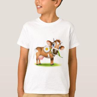 T-shirt Petite vache du Jersey mangeant la marguerite