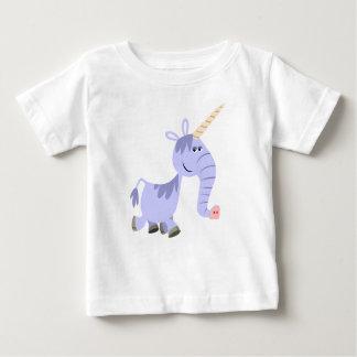 T-shirt peu commun mignon de bébé de licorne de