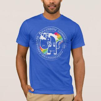 T-shirt Peu de connexion d'arc-en-ciel moins