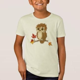 T-Shirt Peu de hibou d'automne Whoo