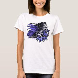 T-shirt Peu dessus bleu de Lilly de tatouage