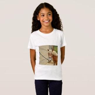 T-Shirt Pferdeportrai - Girls'Fine Jersey tee-shirt