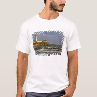 T-shirt Phare à la plage d'état de point de pigeon en San
