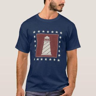 T-shirt Phare côtier de l'art | sur le rouge