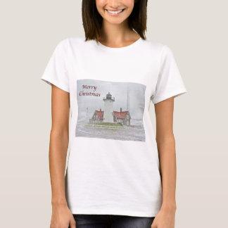 T-shirt Phare dans le Joyeux Noël de neige