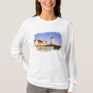 T-shirt Phare de Nobska, trou en bois, le Massachusetts