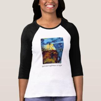 T-shirt Phare fendu de roche la nuit