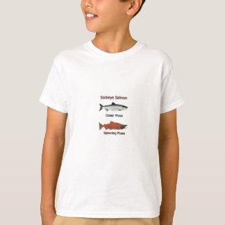 T-shirt Phases de saumon de saumon rouge