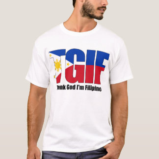 T-shirt Philippin de TGIF avec le drapeau philippin