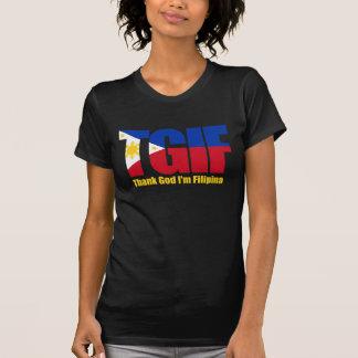 T-shirt Philippine de TGIF avec le drapeau philippin
