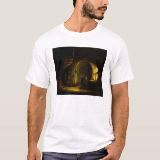 T-shirt Philosophe avec un livre ouvert, 1625-7 (huile sur