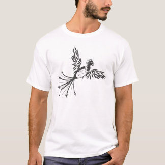 T-shirt Phoenix noir et blanc